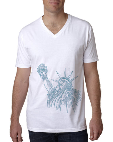 New York to be free MEN'S V-NECK T-SHIRT