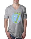 Cancun Boat MEN'S V-NECK T-SHIRT