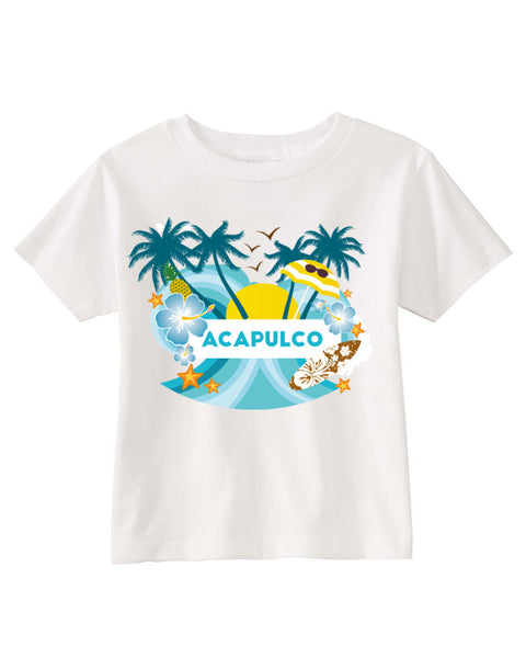 Acapulco Coconut Tree TODDLERS' T-SHIRT