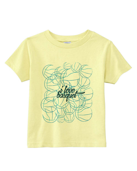 Just love basquet TODDLERS' T-SHIRT