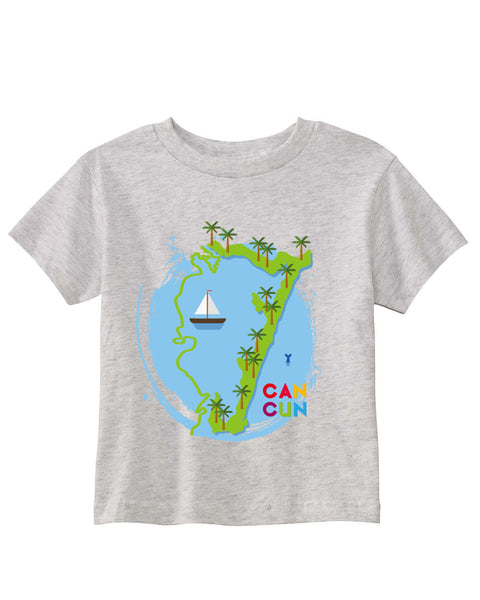 Cancun Boat TODDLERS' T-SHIRT