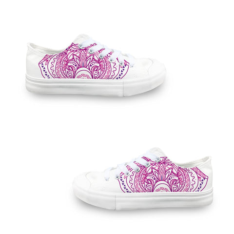 Colorful Elephant LADIES' LOW-TOP SNEAKERS