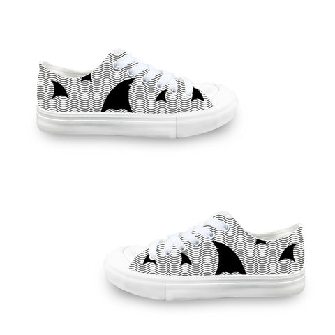 New S. Beach shark LADIES' LOW-TOP SNEAKERS