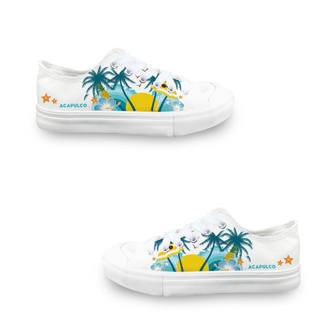 Acapulco Coconut Tree LADIES' LOW-TOP SNEAKERS