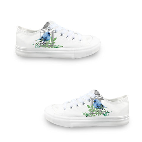 Bird Cage LADIES' LOW-TOP SNEAKERS