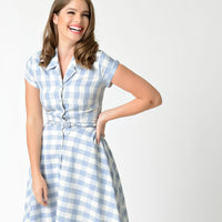 CLOSE-OUT Unique Vintage Alexis Gingham Swing Dress
