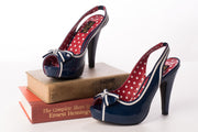 Pin Up Couture BETTIE-05 Blue Heels