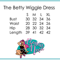 CLOSE-OUT Unique Vintage Betty Wiggle Dress Black