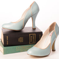 Pin Up Couture SMITTEN-04 Blue Heels