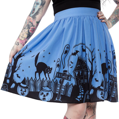 CLOSE-OUT Sourpuss Clothing Haunted House Skirt