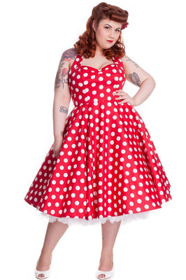 Hell Bunny Mariam Dress in Red