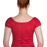 CLOSE-OUT Hell Bunny Melissa Top in Red