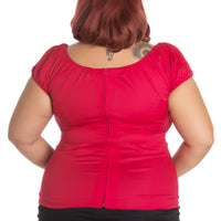 Hell Bunny Melissa Top in Red