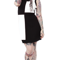 CLOSE-OUT Sourpuss Clothing Mod Dress White