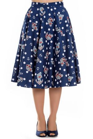 CLOSE-OUT Hell Bunny Oceana Skirt