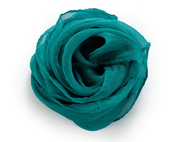 Bonnie Nova Sheer Square Neck & Hair Scarf in Mermaid Teal