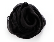 Bonnie Nova Sheer Square Neck & Hair Scarf in Midnight Black