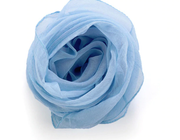 Bonnie Nova Sheer Square Neck & Hair Scarf in Periwinkle Blue