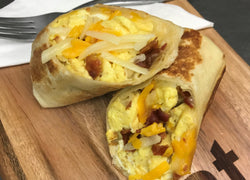 Bacon and Cheddar Breakfast Burritos (Fresh Frozen)