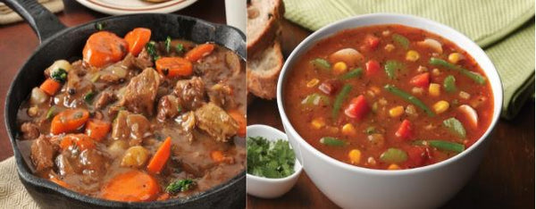 Soup Sampler Bundle-Guiness Beef Stew and County Veg. Soup