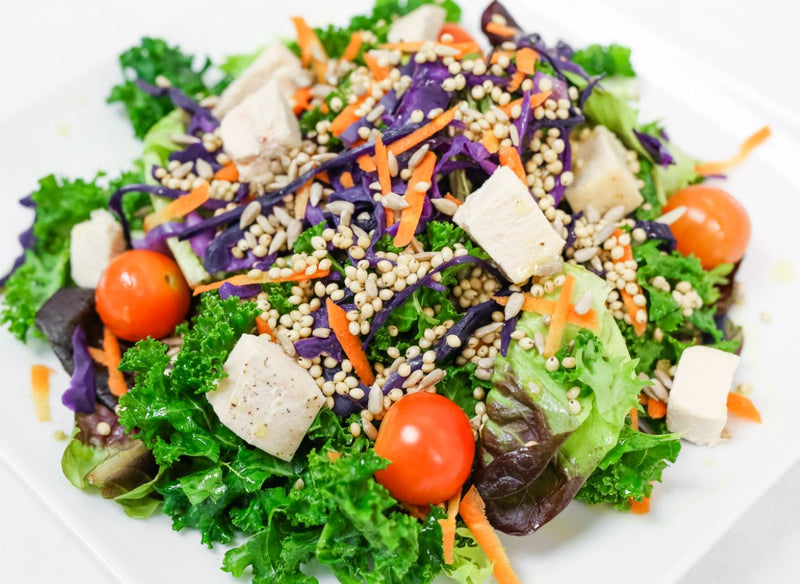 Power Grains & Greens Salad with Herb Goddess Dressing