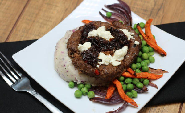 Bacon Jam and Goat Cheese Burger Bowl (Fresh Frozen)