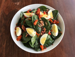 Spinach Salad with Buttermilk Dressing