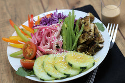 Paleo Green Tea Chicken Buddha Bowl