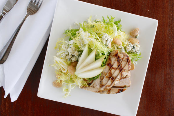 Grilled Chicken Frisee Salad & Sherry Vinaigrette