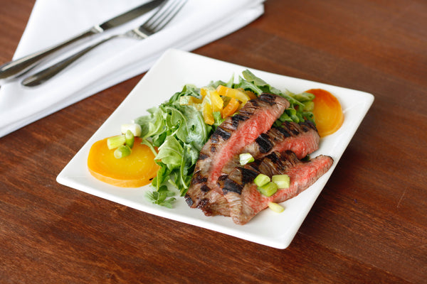 Grilled Steak Salad with Beets and Green Onions