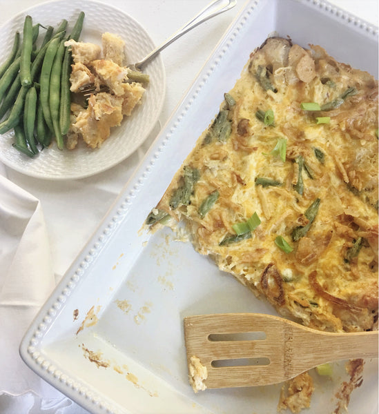 Hallelujah Kitchen Happy Chicken and Green Bean Casserole