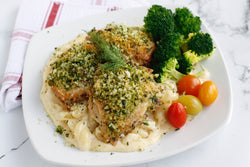 Herb Crusted Chicken with Cheddar Mac (Fresh Frozen)