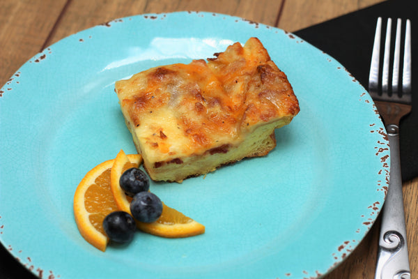 Bacon and Cheddar Strata