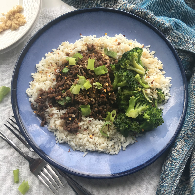 Hallelujah Kitchen Korean Beef with Broccoli and Rice