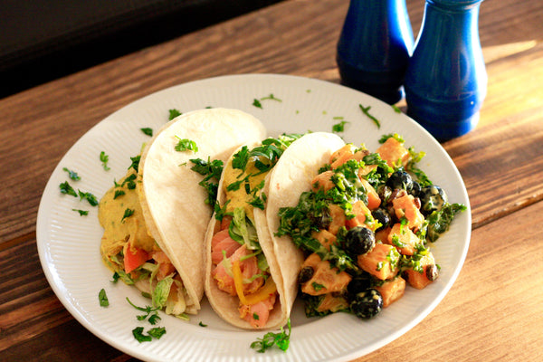 Chef Ivory's Curry Salmon Tacos