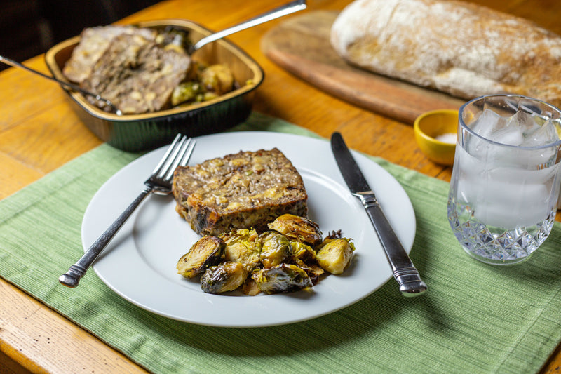 Meatloaf w/ Roasted Brussel Sprouts