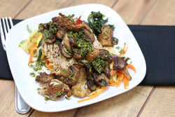 Paleo/W30 Chicken and Roasted Mushrooms with Chimichurri (Fresh Frozen)