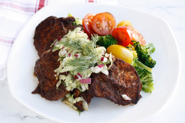 Paleo-W30 Blackened Chicken with Cucumber Salsa