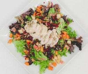 Green Salad  w/Roast Chix, Roasted Butternut, Bacon, & Orange Basil Vinaigrette