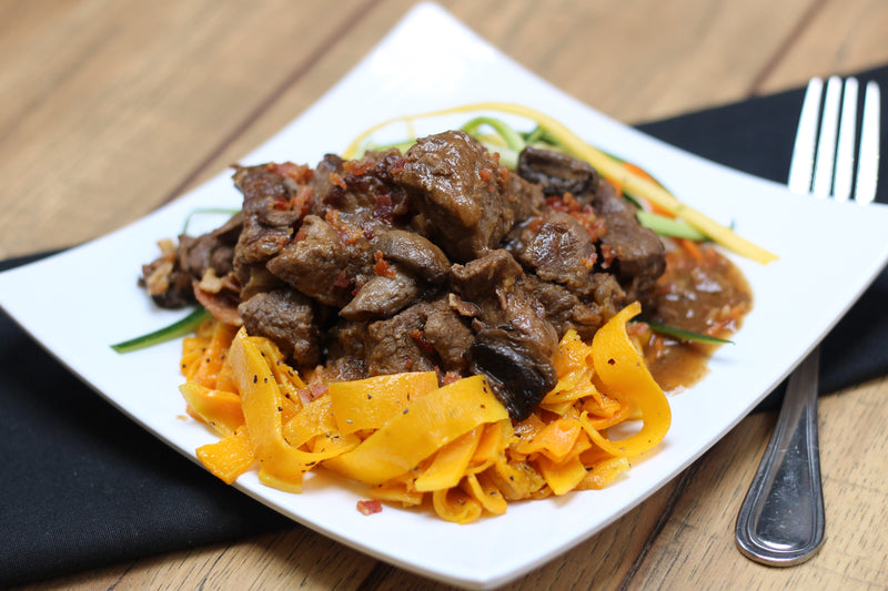 Paleo Beef with Mushrooms and Bacon