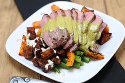 Paleo Cilantro Steak with Super Spiced Sweet Potatoes
