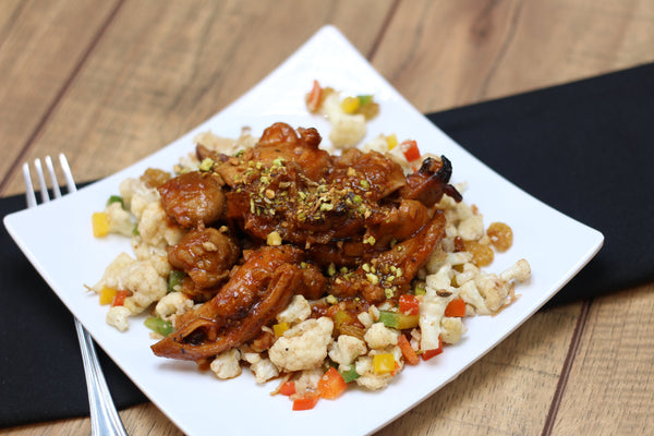 Paleo Honey Garlic Chicken with Cauliflower Saute