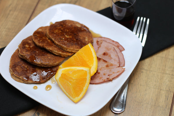 Paleo Honey Walnut Pancakes