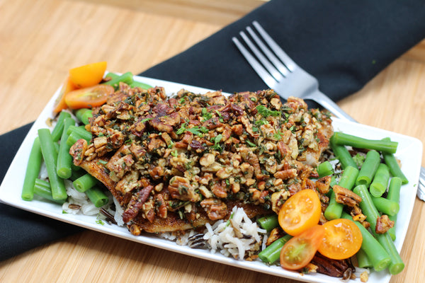 Pecan Crusted Tilapia (Traditional or Paleo-Whole30)