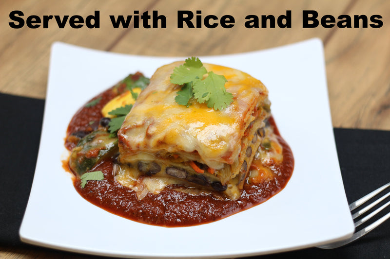 Enchilada Bake (Roasted Veggie or Beef)