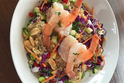 Thai Quinoa Bowl with Shrimp
