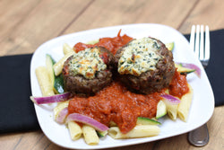 Paleo/W30 Roasted Tomato Stuffed Meatballs