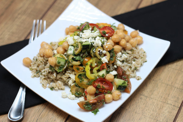 Vegetarian Greek Salsa with Garbanzo Beans