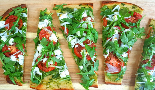 Recipe Kit: Goat Cheese and Arugula Flatbread with Basil Pesto