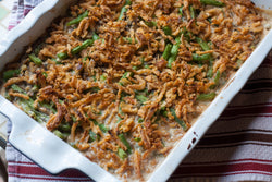 Green Bean Casserole with roasted Cremini Mushrooms & Crispy Shallots (Holiday Pre-Order)